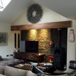 long elm mantle piece