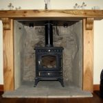 Elm Mantel Piece fireplace with corbels Scotland