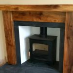 Hardwood mantel Fireplace Timber Wooden Mantle