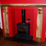 Wooden mantle fireplace scotland corbels