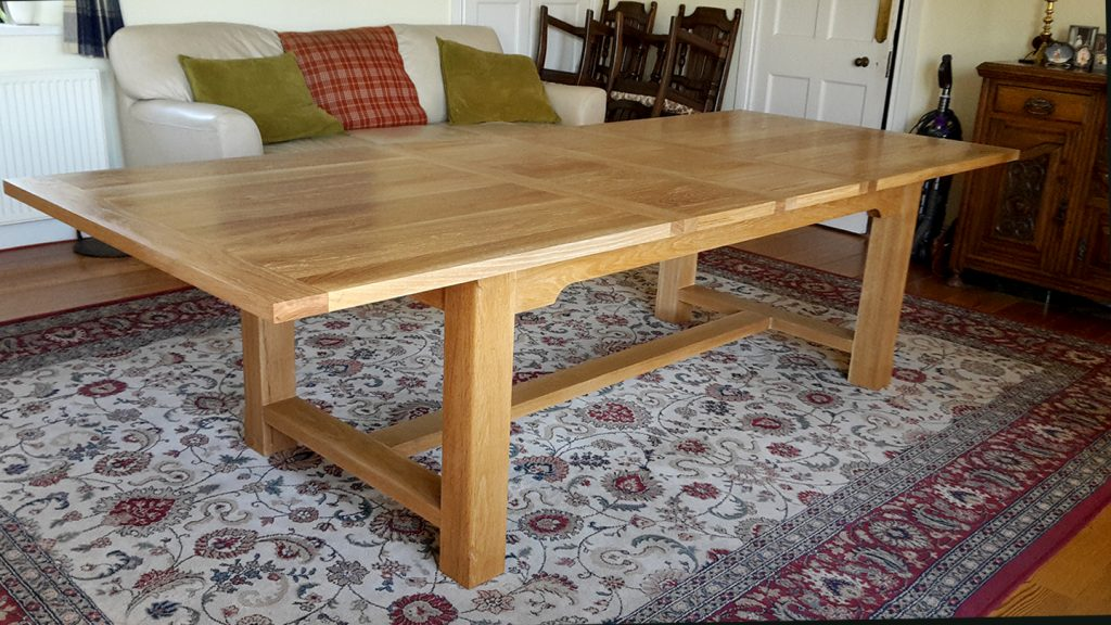 Solid oak table traditional joinery contemporary furniture