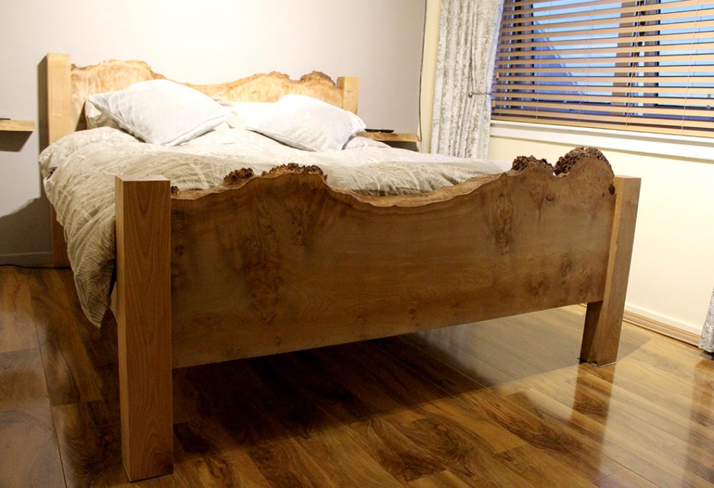 Waney edge bed Rustic Furniture Scotland