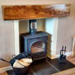 Burry Elm Wooden Mantle Piece Scotland