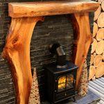 Wooden Mantels Fireplace Logburning Stove