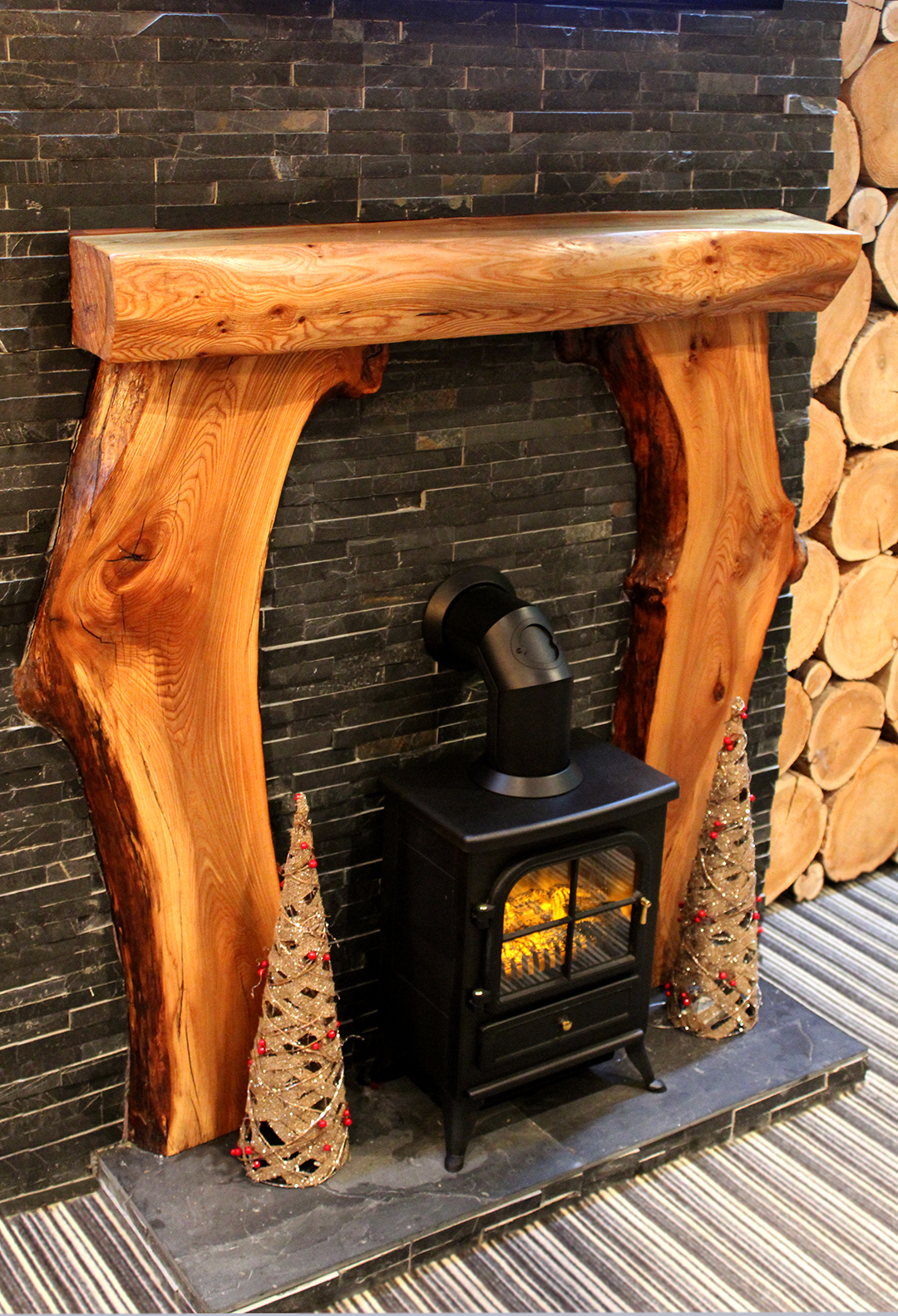 hardwood mantels wooden mantel piece custom made in elm yew