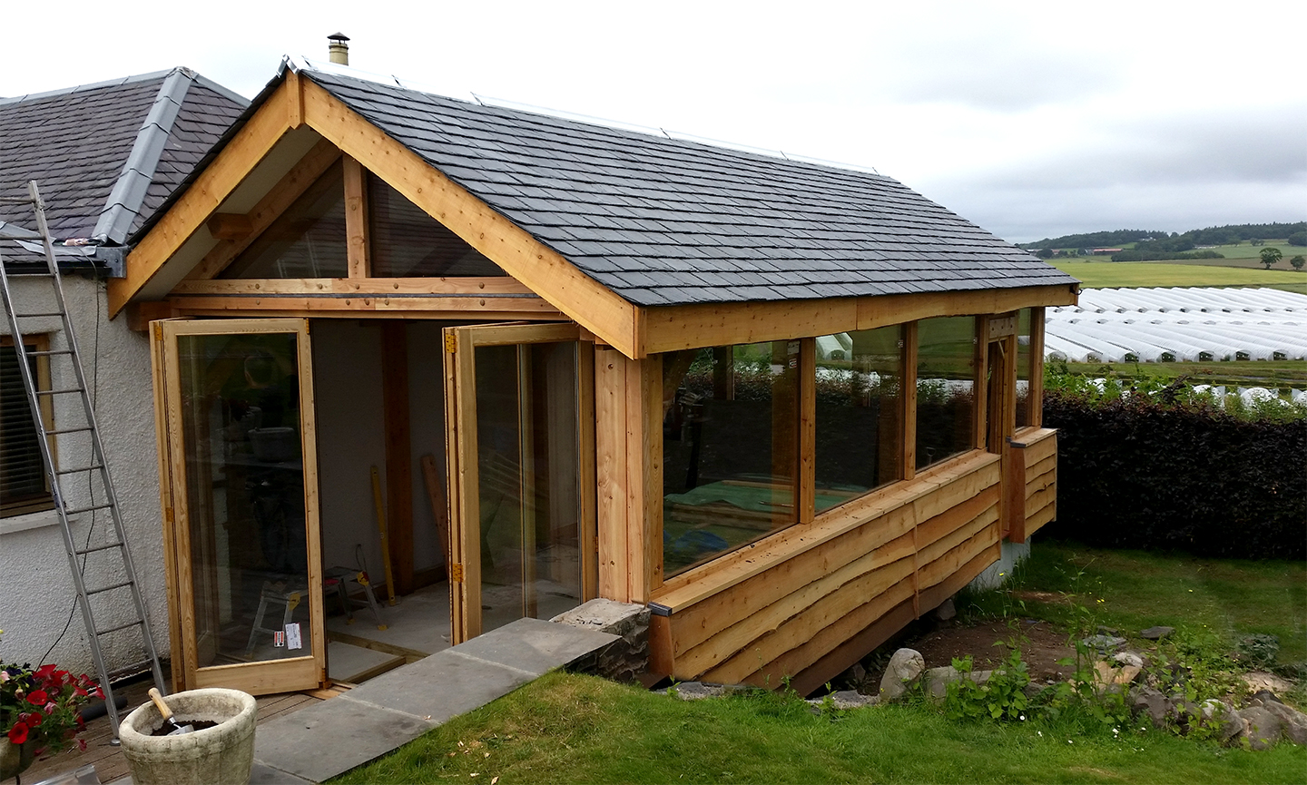 Timber Extensions Traditional Oak And Larch Framing