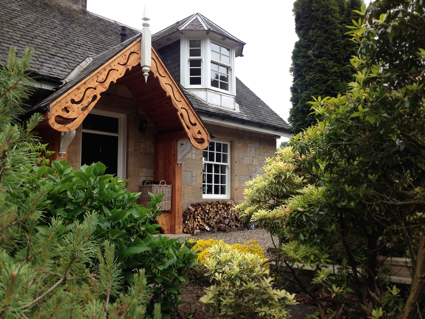 Traditional Timber Framing Porch Timber Extensions Scotland