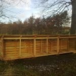 Large outdoor wooden logstore scotland