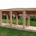 Big wooden logstore scotland