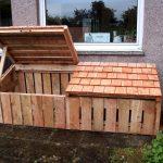 wood bunker log store timber scotland