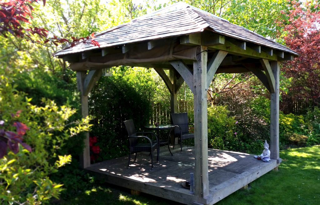 Gazebo hottub enclosure wooden building Scotland