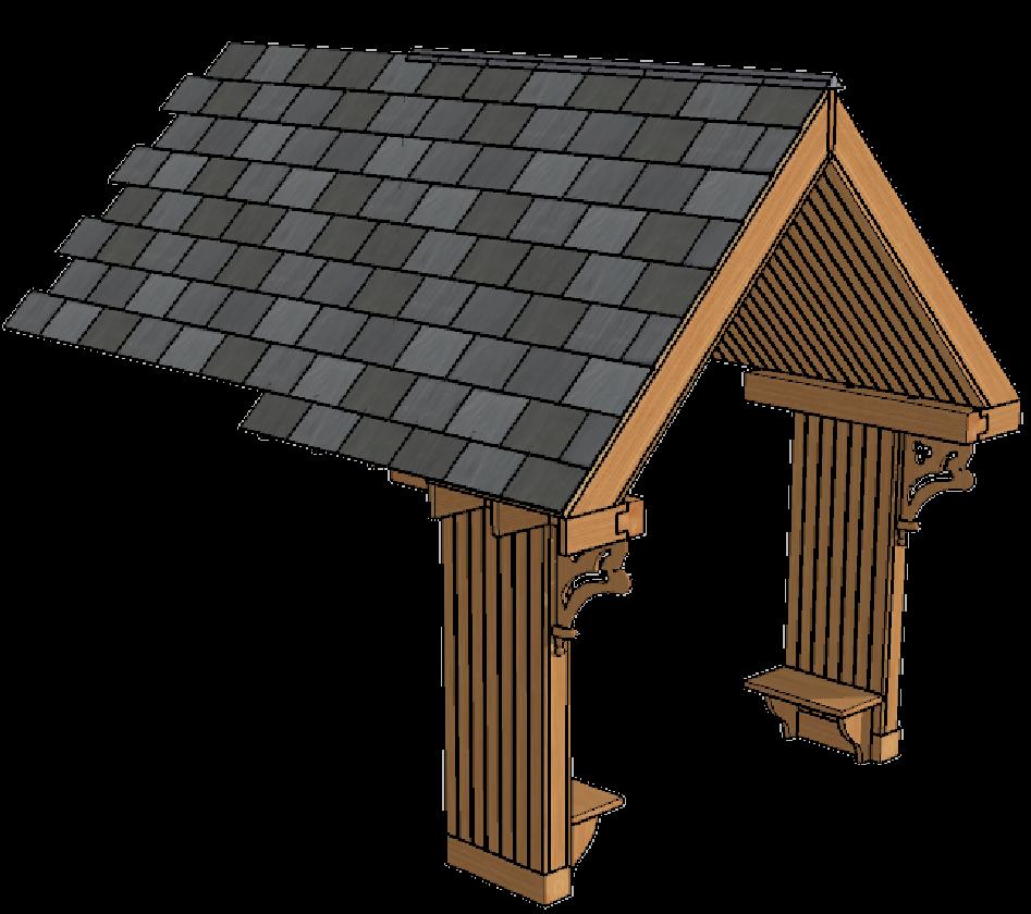porch 3D model design process