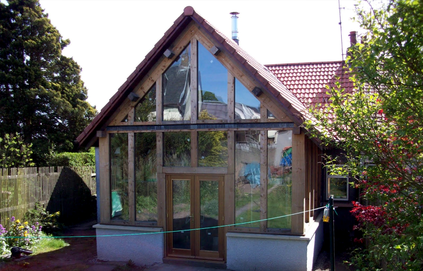 Completed extension timber framing scotland