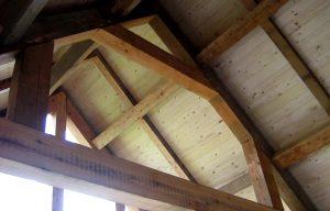 Interior view tradtional timber framing scotland