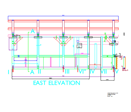 AutoCAD drawing timber frame building