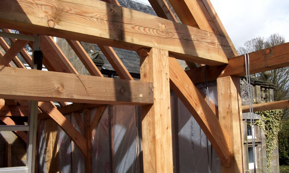 Detail of joinery traditional timber framing scotland