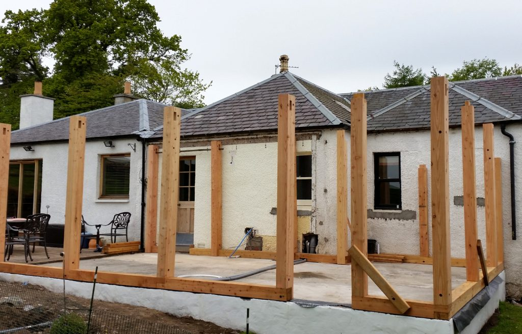 Constructing a timber frame scotland tayport