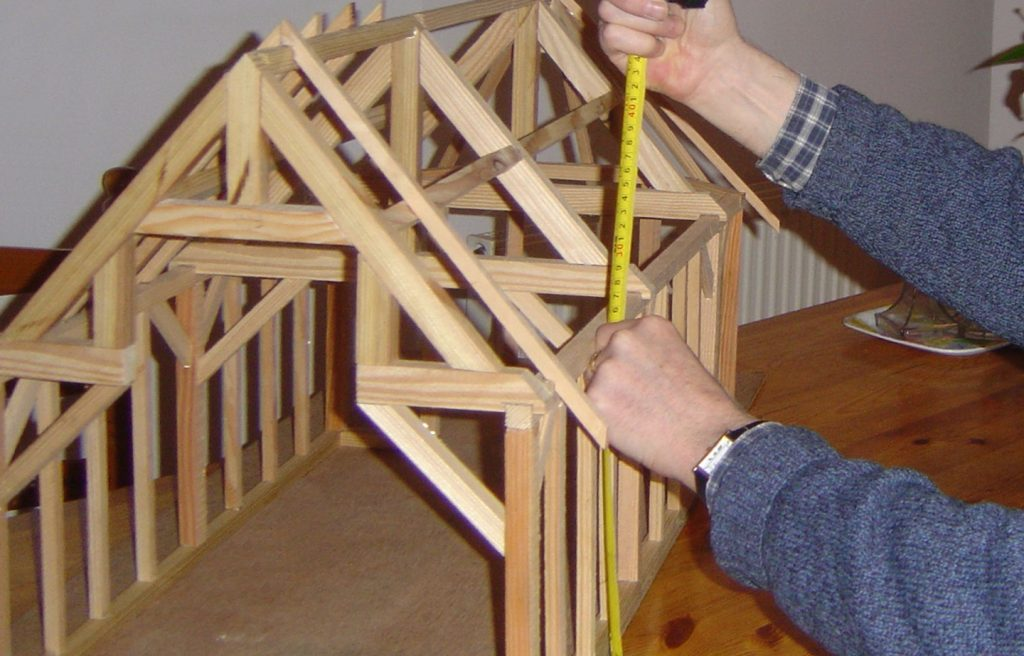 Scale model Timber framing scotland