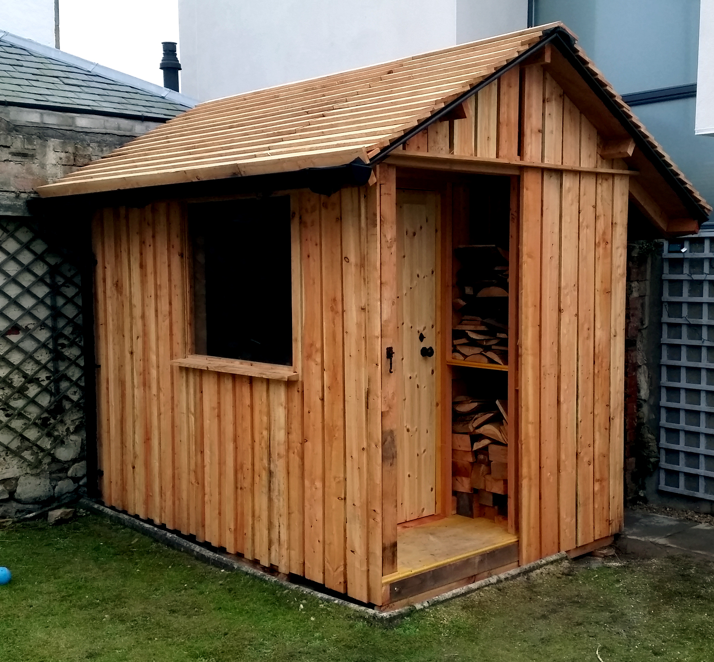 Custom Shed Timber Framing Wooden Cladding Scotland