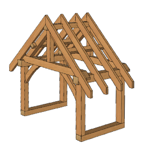 Sketchup timber frame porch design