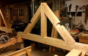 Timber Truss Traditional framing Scotland Carpentry