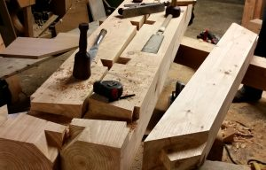 Timber framing tools traditional joinery Scotland