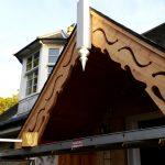 Traditional brage boards porch restoration Scotland