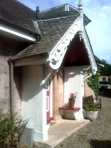 old porch for restoration gamekeepers lodge
