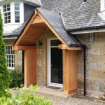 Tradioional porch wooden frame scotland restoration