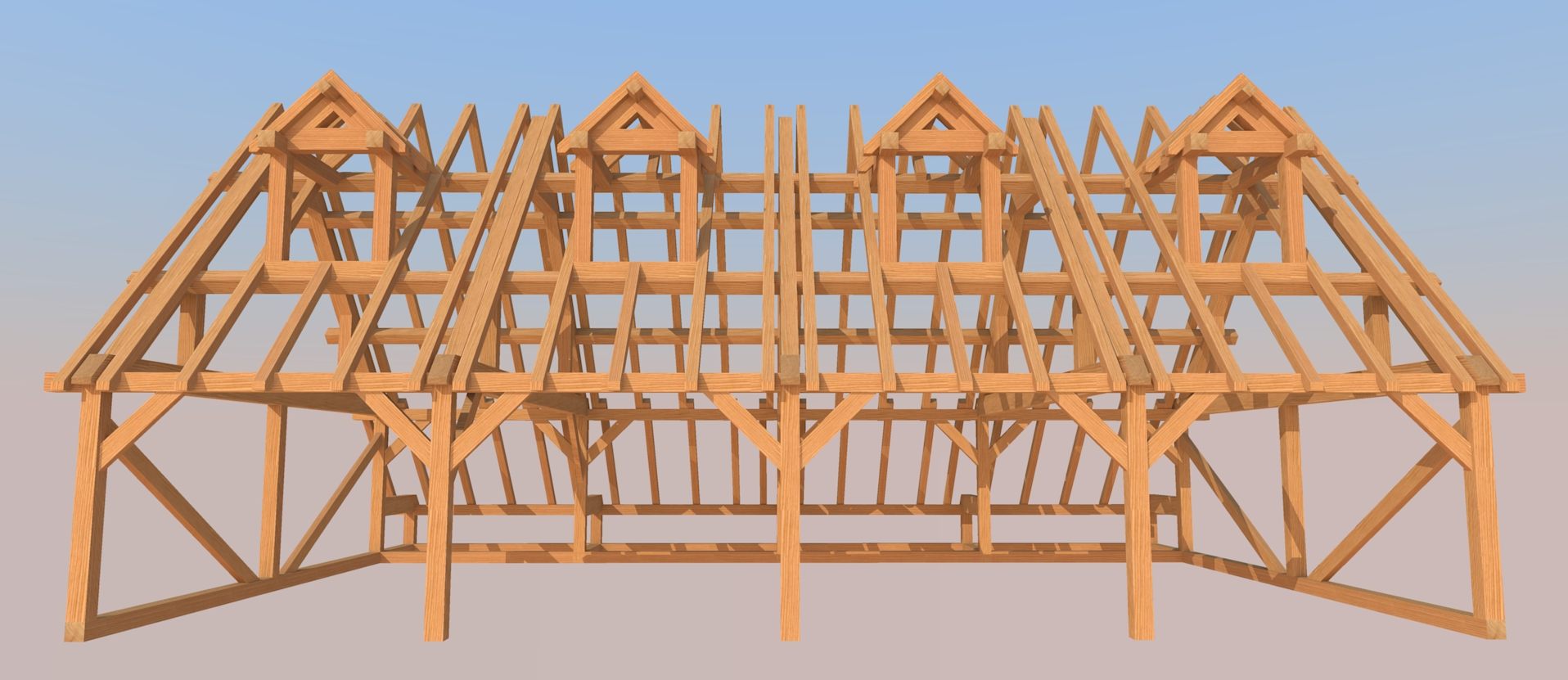 Traditional barn design post and beam carpentry