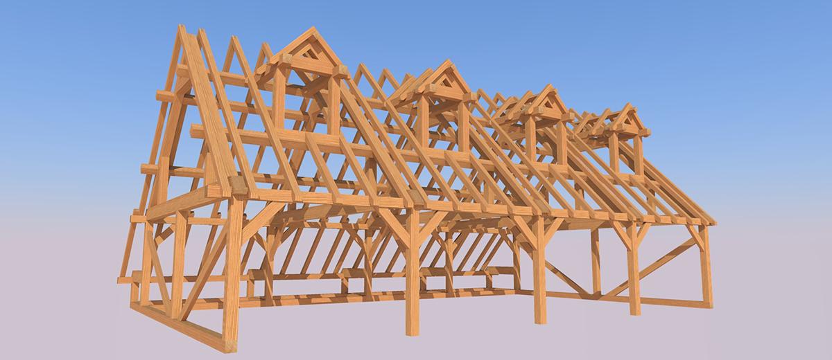 Traditional timber frame barn building scotland