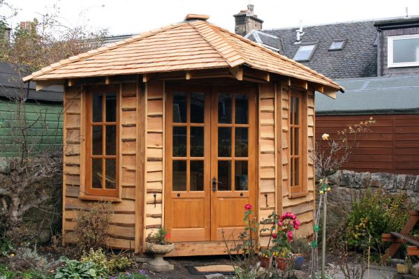 Thomson Timber Summerhouse Building Larch Cladding