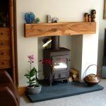rustic Hardwood wooden mantel piece Scotland Timber Fireplace
