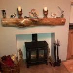 waney mantle fireplace logburner scotland