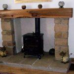 large wooden mantel pice scotland elm oak