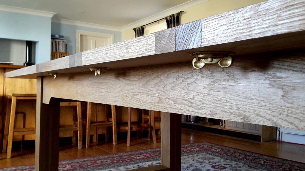 Custom made furniture soilid oak brass fittings Scotland