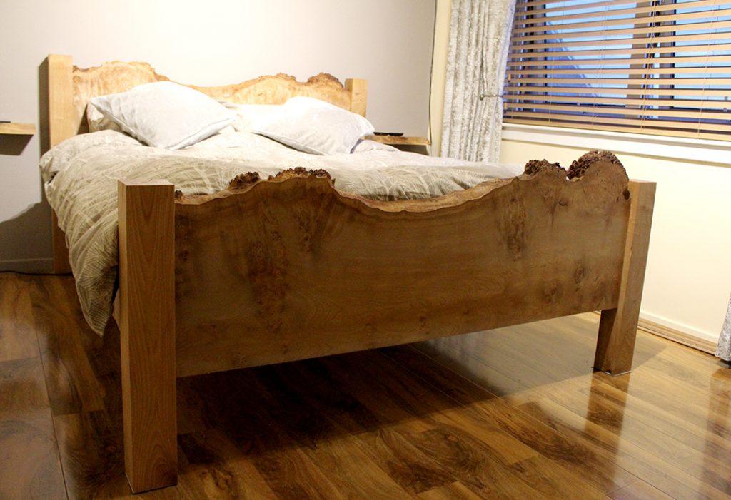 Waney edge bed Rustic Furniture Scotland