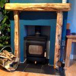 Wooden Mantel Piece Scotland Waney Edge