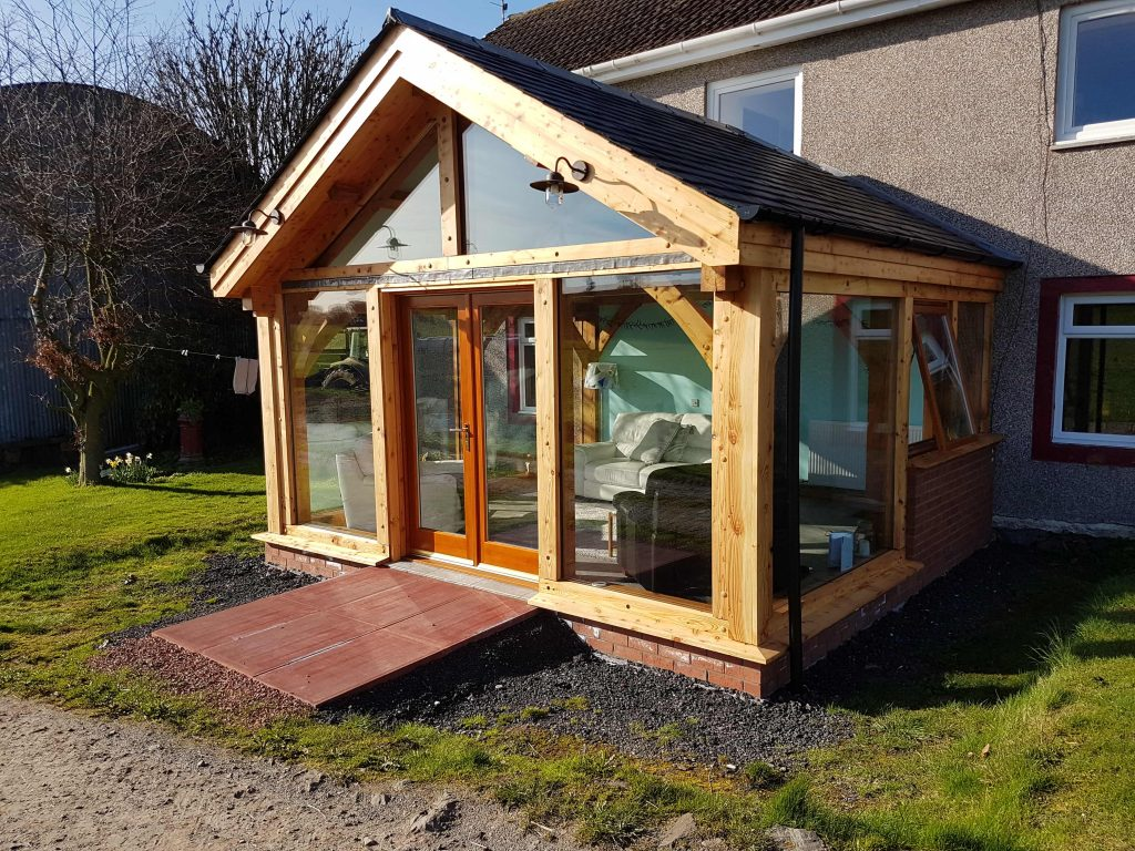 access ramp timber extension scotland