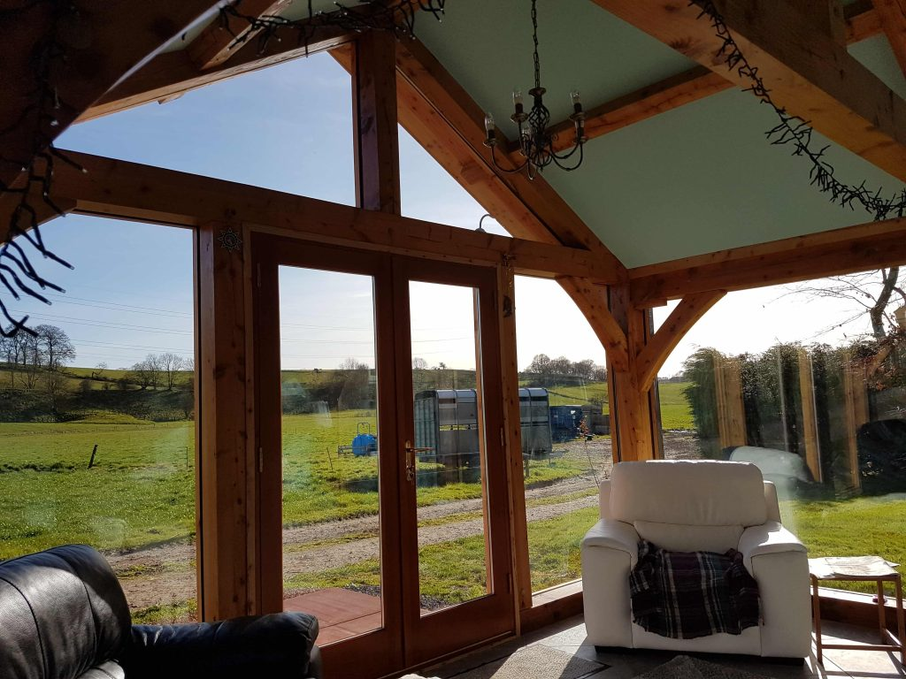 Sitting room extension sunroom timber scotland