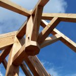 Carpentry for rounded timber extension Scotland