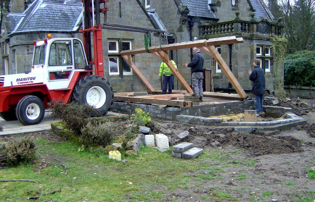 Raising Timber frame
